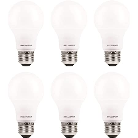 SYLVANIA ECO LED Light Bulb, A19, 100W Equivalent, Efficient 14.5W, 7 Year, 1450 Lumens, Frosted, 5000K, Daylight - 6 Pack (40884)