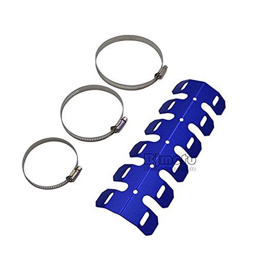 Silenciador de tubo de escape de BJ Global, universal, para motocicleta, protector contra el calor para cualquier motor de 2tiempos de moto de fuera de carretera