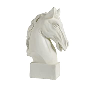 A&B Home Resin Art Sculpture Horse Head Statue 10.5  x 6  x 16  Inch Equestrian Sculpture Art Sculpture Horse Sculpture For Bookshelf Table Top