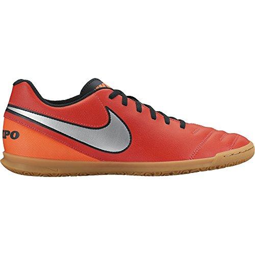 Nike Tiempo Rio III IC, Botas de fútbol Hombre, Blanco/Negro/Naranja (Lt Crmsn/Mtllc...