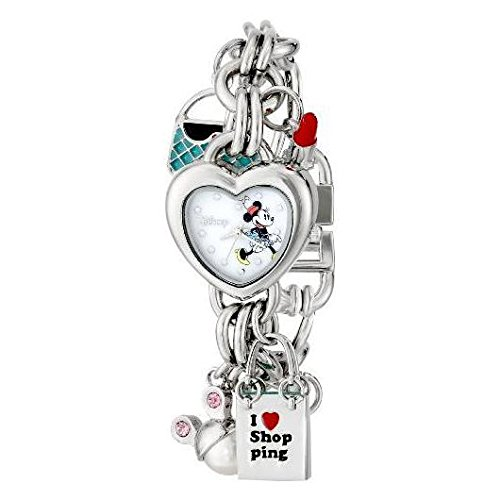 Frog Studio Home Disney Women's MN2010 Minnie Mouse Mother-of-Pearl Dial Charm Watch