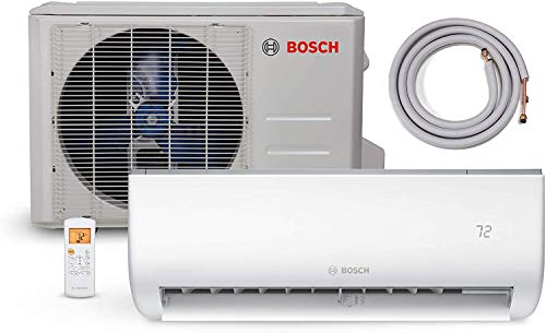 Bosch Ultra-Quiet 12K BTU 230V Mini Split Air Conditioner & Cooling System with Inverter Heat Pump, 20.7 SEER High-Efficiency – 7 yr. ltd. Warranty and Energy Star Certified