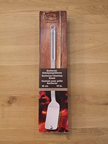 Rösle BBQ Grillbürste 47 cm, 18 Inch - Austauschbare Borsten aus hochwertigem Messing - Ideal für jegliche Arten von Grills, Kohle, Gas und Elektrogrill