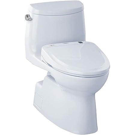 Toto Mw644584cefg 01 Washlet Carolina Ii One Piece Elongated 1 28 Gpf Toilet And Washlet S350e Bidet Seat Cotton White