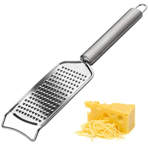 Käsereibe | Parmesanreibe | Zestenreißer | Multifunktion Küchenreibe und Hobel aus Edelstahl, rostfrei, zerkleinert Nüsse, Gemüse Zitronenschalen und Orangenschalen - Ideal zum Kochen und Backen
