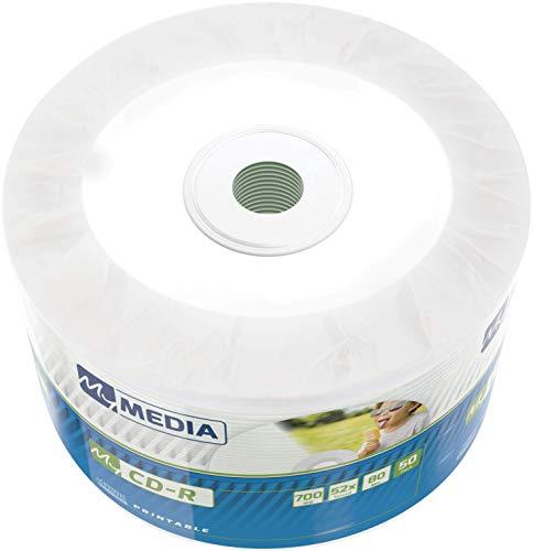 MyMedia CD-R 700 MB I 50er Pack Spindel I CD Rohlinge printable I 52-fache Brenngeschwindigkeit mit langer Lebensdauer I leere CDs beschreibbar I Audio CD Rohling I CD bedruckbar