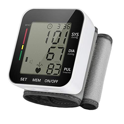 Expower Digitale pols, bloeddrukmeter met LCD-display, lichtgewicht en draagbaar, voor bloeddrukmeter, elektronische volautomatische bloeddruk, universele veiligheid zwart