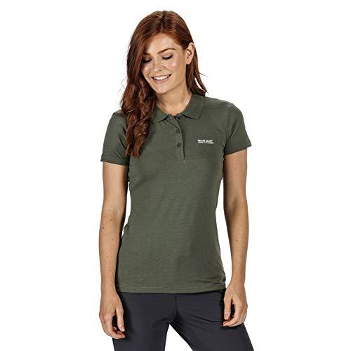 Regatta Polo Technique Sinton léger et Respirant pour séchage Rapide avec col boutonné T-Shirts Vests Femme, Thyme Leaf, FR : XL (Taille Fabricant : 18)