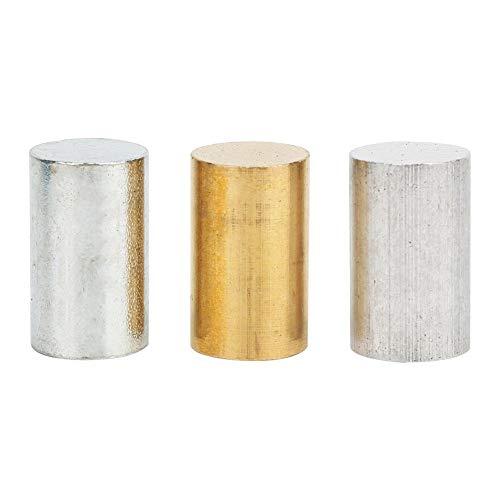 Atyhao - Juego de Cilindros metálicos (3 Piezas, latón, Hierro y Aluminio, para enseñanza física para experimentos en Escuela Primaria)
