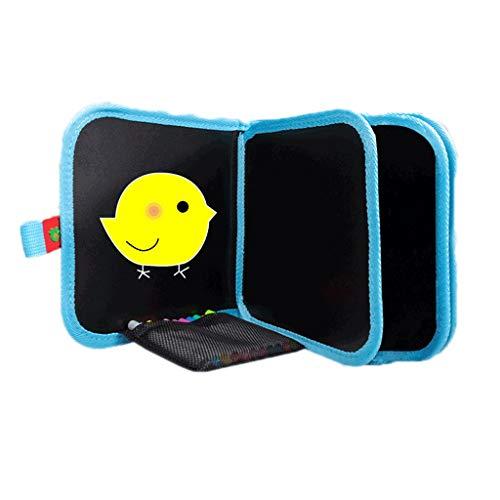 HMEI Tablero de Dibujo Creativo Tablero de Dibujo magnético para niños, Tablero de Dibujo borrable portátil, para Graffiti, Escritura, Dibujo (Color : Bird Six-Page Pack)
