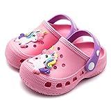 Kids Unicorn Clogs Summer Toddler Boys Girls Slippers Slide Non-Slip Garden Shoes Lightweight Slip-on Beach Pool Water Shoe Shower Sandals