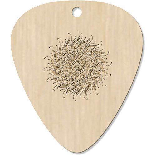 Azeeda 7 x 'Decorated Sun Mandala' Guitar Picks / Pendants (GP00022626)