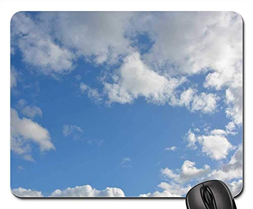 Mausemat Wolken Wolke Weiße Wolken Bewölkter Himmel Blauer Himmel Weihnachten Student Mausmatte Schlafsaal Gummi Desktops Bürogeschenk Computertastatur Mauspad Spiel 25X30Cm Langl
