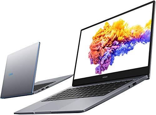 HONOR MagicBook 14 Laptop, 35,56cm (14 Zoll), Full HD IPS, 512 GB PCIe SSD, 8 GB RAM, AMD Ryzen 5 4500U, Fingerabdrucksensor, Deutsches QWERTZ-Layout, Windows 10 Home - Space Grey