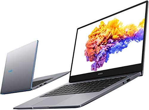 HONOR MagicBook 14 Laptop, 35,56cm (14 Zoll), Full HD IPS, 512 GB PCIe SSD, 8 GB RAM, AMD Ryzen 5 4500U, Fingerabdrucksensor, Deutsches QWERTZ-Layout, Windows 10 Home - Space Grey