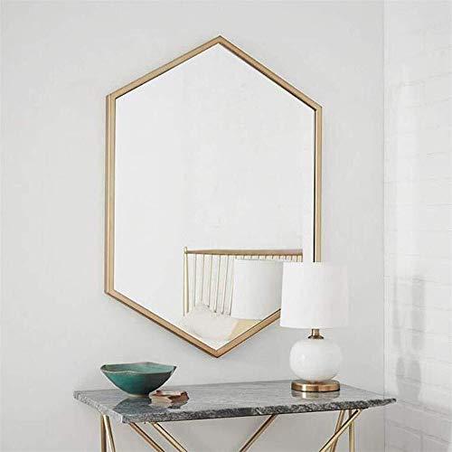 TIAN Vintage Wandspiegel, Wand- Spiegel mit Goldrahmen Shabby Chic Spiegel für Wohnzimmer Schlafzimmer Badezimmer Spiegel Gold