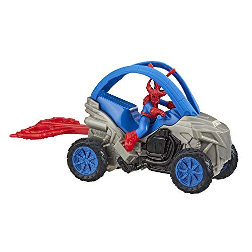 Spider-Man Marvel Spider-Ham Stunt Vehicle 6-Inch-Scale Super Hero Action Figure and Vehicle Toy Great Kids for Ages 4 and Up