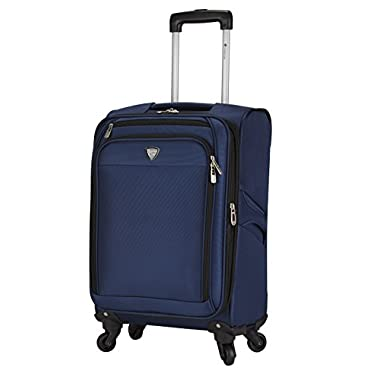 Travelers Club 18  Carry-On Spinner Luggage Constructed with Top Durable Fabric, Navy Color Option