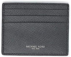 Michael Kors Mens Slim Leather Card Case Wallet Grey Saff product image