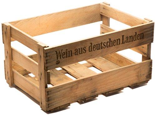 Kistenkolli Altes Land Schöne Originale Weinkiste Holzkiste mit Aufschrift 46cm x 30,5cm x 24cm