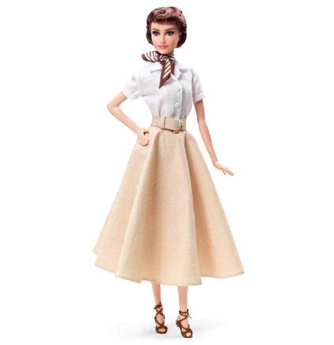 Barbie - Audrey Hepburn en Vacaciones en Roma, muñeca Fahion (Mattel X8260)