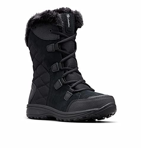 Columbia Women s ICE Maiden II Snow Boot, Black, Grey, 8.5 B US