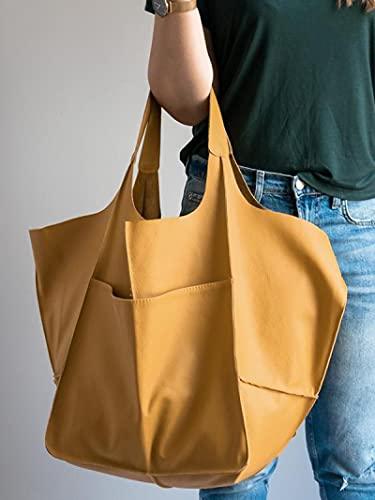 para Bolso Mujer Bolso Casual Suave De Gran Capacidad Bolso para Mujer Diseñador Hecho con Apariencia De Metal Antiguo Bolso De Hombro De Cuero PU De Lujo Retro Cartera De Compras