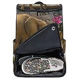 MONTOJ Toller Rucksack mit Elefant und rosa Blumen, Reise-Laptop-Rucksack, extra groß, College-Schulrucksack für Damen und Herren