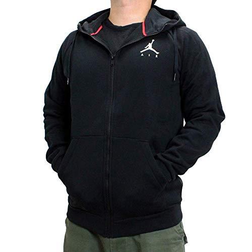 NIKE M J Jumpman Fleece FZ Hooded Full Zip LS Top, Hombre, Thermal Green/Black, S