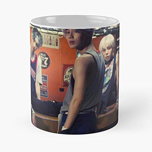 Shinee View – Taza de café de cerámica de mármol blanco