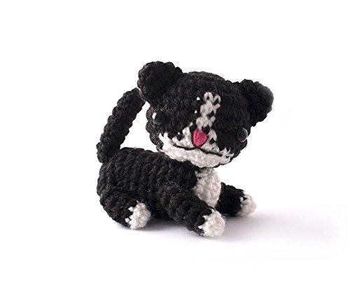 Black Kitten Handmade Amigurumi Stuffed Toy Knit Crochet Doll VAC