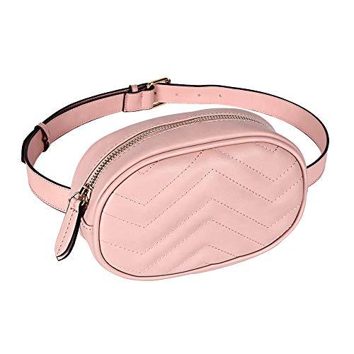 Geestock, Marsupio da donna impermeabile in pelle sintetica in poliuretano, borsa a tracolla per feste, viaggi, escursionismo Rosa rosa small