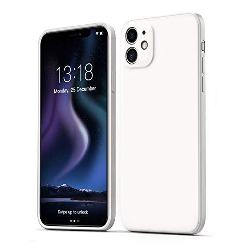 GOODVIHSH - Funda para iPhone 11 de 6.1 Pulgadas, Funda de Silicona líquida Ultra Delgada, cámara y protección de Pantalla Mejorada, Cubierta Completa a Prueba de Golpes (Blanco)