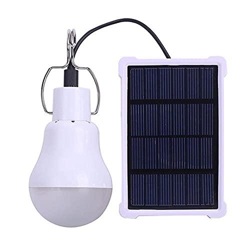 YepYes Bombilla Led De Camping Solar Lámpara Colgante con El Panel Solar Linterna Portátil para Al Aire Libre Senderismo Pesca Iluminación Blanca Stlye2