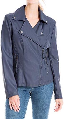 Max Studio Women's Faux Leather Jacket