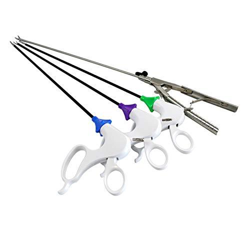 TWY Portaagujas laparoscópicas, Maryland, Garras ranuradas, Tijeras, Instrumentos quirúrgicos para Entrenar 4 Tipos de Instrumentos quirúrgicos en cirugía laparoscópica