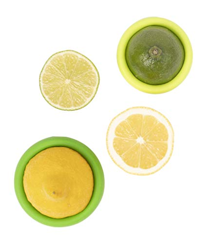 Set of 2 Food Huggers - Reusable Silicone Food Savers - Small Sizes - Patented Product