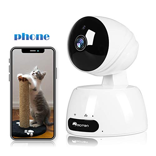 Baby Monitor Camera, 1080P Dog Camera with Phone App, Pan/Tilt/Zoom IP Camera, WiFi Home Security Camera Indoor, Pet Camera with 2-Way Audio, 2.4G Wifi Cloud Cam, Motion Detection, Night Vision, Alexa