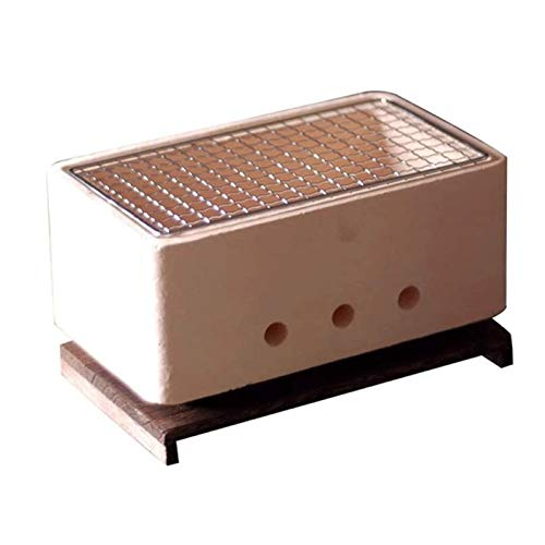 Lamyanran BBQ for Picnic Garden Terrace Camping Beach Portable Charcoal Grill,Mini Charcoal Grill,Household Charcoal Grill,Thickening Barbecue Charcoal Stove,With Insulated Wooden Mat