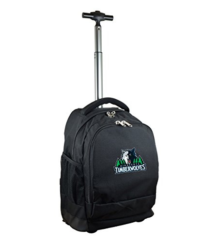 NBA Minnesota Timberwolves Expedition Wheeled Backpack, 19-inches, Black