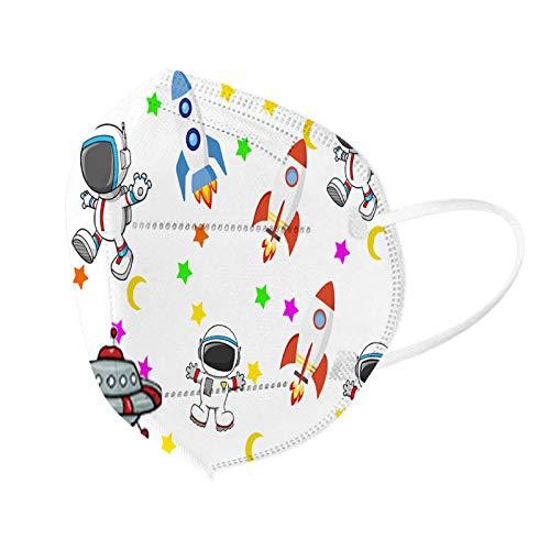 10/20/30/50 Piezas(astronauta) Niños 5 Capa Bufanda Desechables Infantil de Filtro de Elásticos,Dibujos Animados patrón095