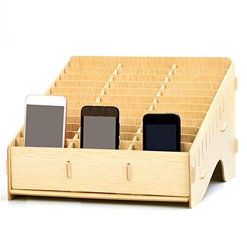 Handy Aufbewahrung Box, Mehrere Zellen Aus Holz Handy Management-Aufbewahrungsbox Saubere Desktop Handy Aufbewahrungsbox Office Home Klassenzimmer Desktop Multi-Grid Management Aufbewahrungsbox