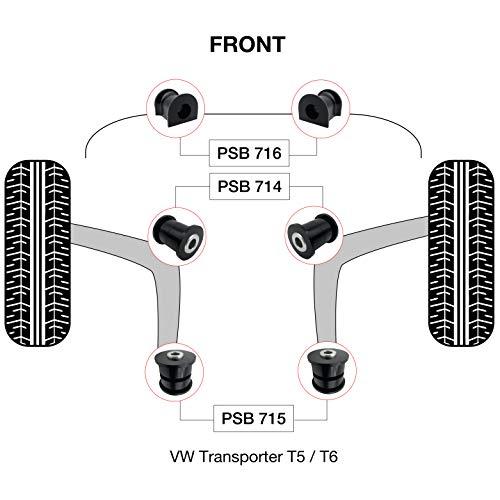 03-18 PSB714//715//717//716//719//720 PSB Buschtransporter T5//T6 Hinter- und Anti-Rollstangenbuchsen-Set Komplettes Front-
