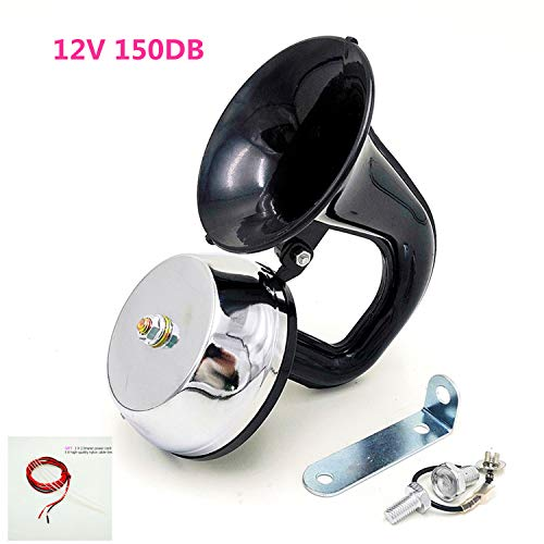 YIYIDA Autohupe Car Horn 150db Elektrische Hupe fürs Auto Lufthupe LKW-Hupe Elektrisches Lautsprecher Einzigartige Super Horn sprecher für alle 12V LKWs Lastwagen Züge Boote Motorrad Autos etc