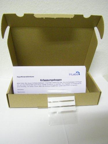Test-Set für eine Haarmineralanalyse einer Haarprobe auf Nährstoffe und Schwermetalle