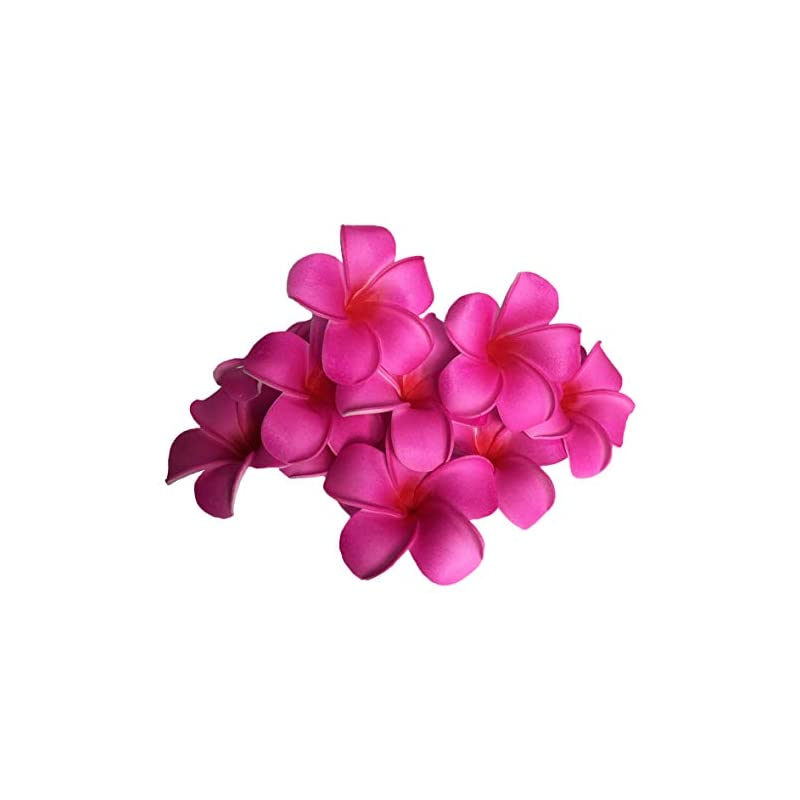 silk flower arrangements josairy water floating plumeria artificial flower frangipani for pool decoration and bathtub 20 pieces (red)