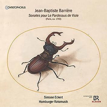 Barrière: Sonatas for Pardessus de viole