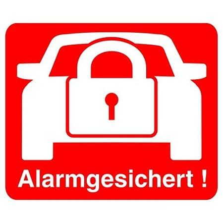 2 Stück Aufkleber Alarm Isecur Alarmgesichert 30x30mm Hin 068 Hinweis Auf Alarmanlage Innenklebend Für Fensterscheiben Haus Auto Lkw Baumaschinen Baumarkt