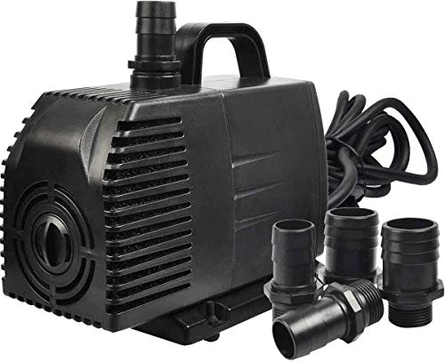 Simple Deluxe 1056 GPH Submersible Pump with 15' Cord, Water Pump for Fish Tank,...