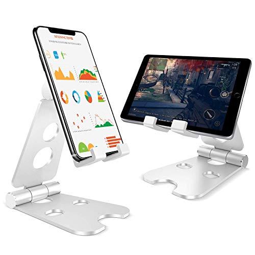 supporto tablet tavolo Supporto Telefono,Porta Tablet Supporto Stativo in Solido Alluminio Universale Supporto Dock per Phone XS XS Max XR X 8 7 6 6S Plus 5 5S 4 4S